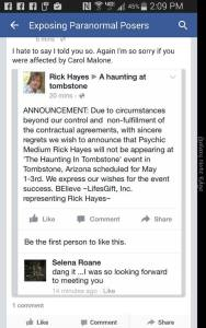 Now that Rick hayes is not most likely being paid he decides to back out of carols event he supported her this entire time even when warned what a dirt bag he is for supporting  in the first placeii warned these people they would get burned now they complain really?