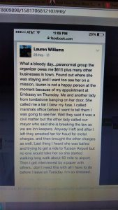 owner of said venues speaks the truth about Malones lies.
